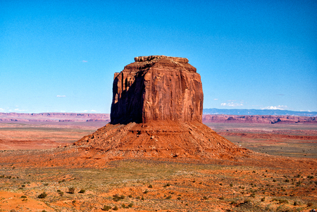 Rotsformatie in Monument Valley, Arizona, USA Stockfoto
