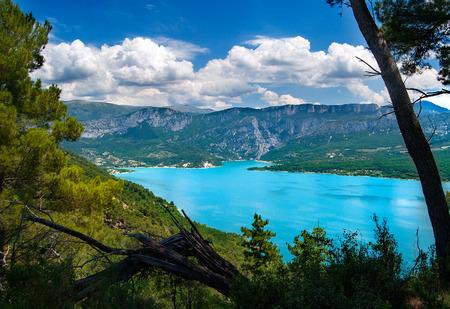 View on the Lac du Sainte-Croix, France