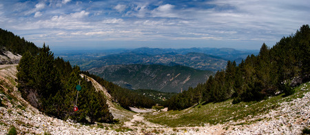 Panorame from the Mont-Ventoux, France