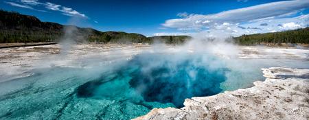 Deep blue sapphire very hot pool, Yellowstone National Park