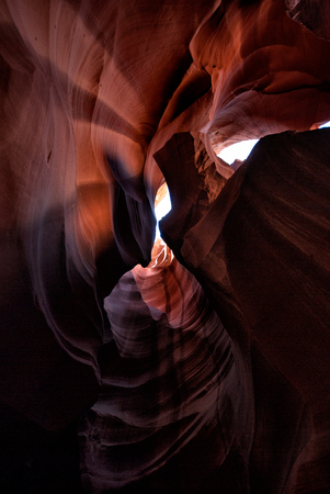 Light entering the Antelope Canyon, Arizona, USA Stockfoto