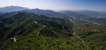 The Great Wall in the Mountains in China