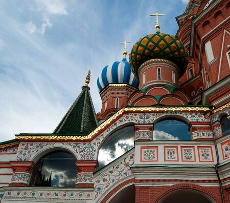 Detail of the St. Basils Cathedral in Moscow, Russia