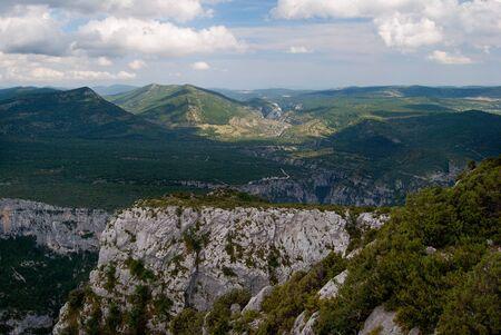 Landscape of the Gorges du Verdon,
