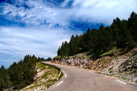 Road on the Mont-Ventoux