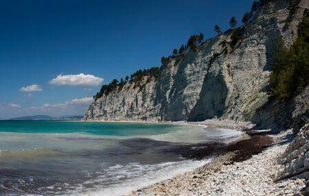 Quiet beach in Russia at the Black Sea Stockfoto