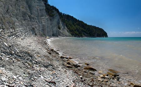 Deserted beach at the Black Sea