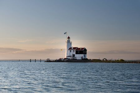 The Horse of Marken lighthouse, translated as Horse of Marken is a famous Dutch lighthouse located at the IJsselmeer at the village called Marken