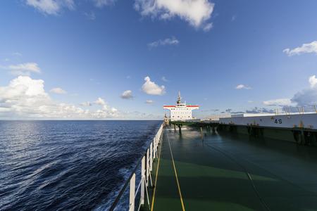 Comercial ship underway viewed from bow Zdjęcie Seryjne