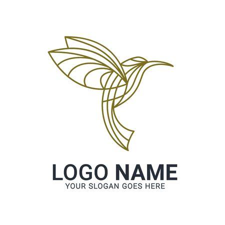 Modern Bird logo design. Vector animals logo editable design. Stok Fotoğraf - 129993448