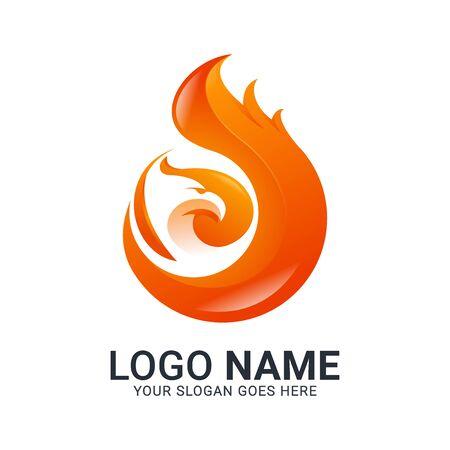 Modern Bird logo design. Vector animals logo editable design. Stok Fotoğraf - 129993449