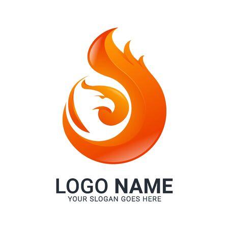 Modern Bird logo design. Vector animals logo editable design. Stok Fotoğraf - 129993451