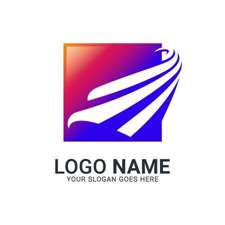 Modern Bird logo design. Vector animals logo editable design. Stok Fotoğraf - 129993456