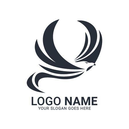Modern Bird logo design. Vector animals logo editable design.