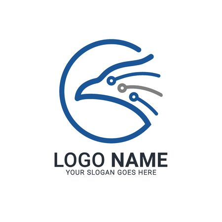 Modern Bird logo design. Vector animals logo editable design. Stok Fotoğraf - 129993463