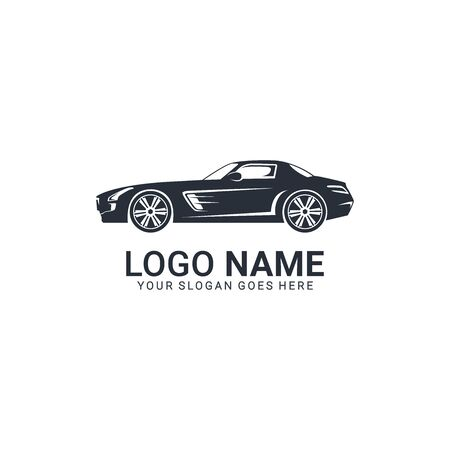 Luxurious car logo design. Editable logo design Illustration