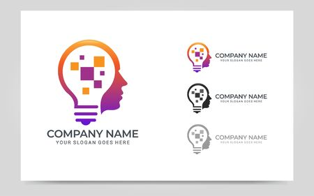 People abstract head .Modern human face graphic illustration. Vector graphic illustration