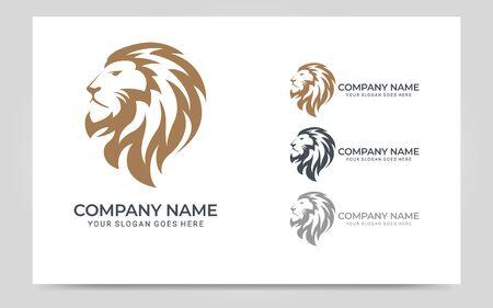 Colorful Modern Lion Head Logo Symbol Design. Graphic vector illustration. Abstract symbol design template design Logo
