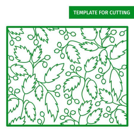 Decorative foliage pattern for laser cutting.