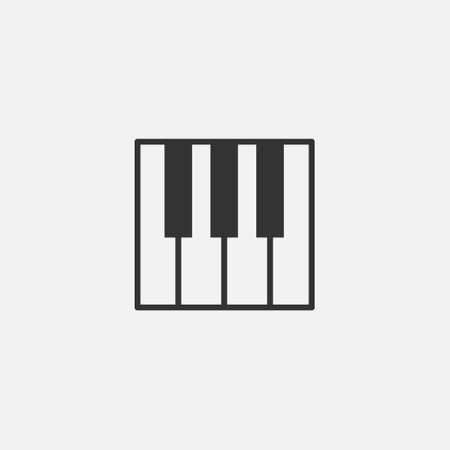 piano vector isolated icon. music, instrument icon for web site and mobile app on grey background