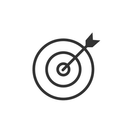 Target icon vector illustration on white background. Arrow symbol. Goal isolated flat icon for web and mobile app