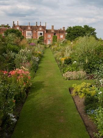 A formal garden at an English stately home.