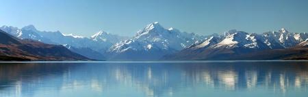 Panoramic view of New Zealand photo