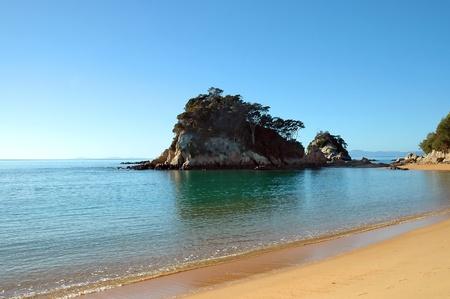 nelson: The Golden Sands of Little Kaiteriteri Beach, Abel Tasman National Park, New Zealand
