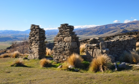 The ruins of Welshtown where 300 people lived in the 19th Century after the discovery of New Zealand