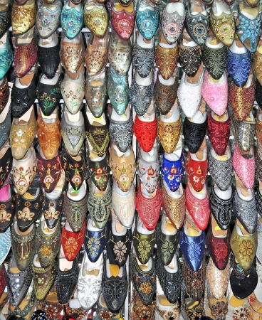 Hundreds of locally made women s shoes are on sale at this Ho Chi Minh City Market stall, Vietnam