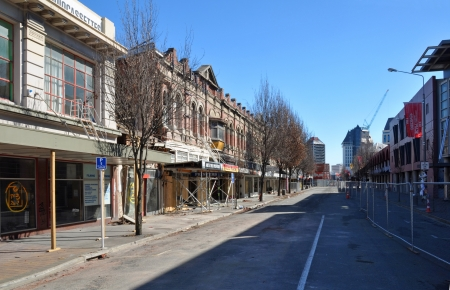 Christchurch, New Zealand - September 03, 2011: Six months on from the devastating Christchurch Earthquake and one of the city