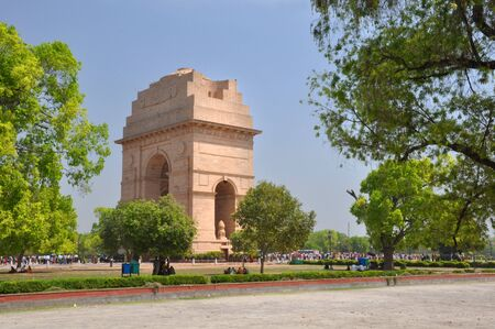 india gate: The India Gate is the national monument of India  Situated in the heart of New Delhi Stock Photo