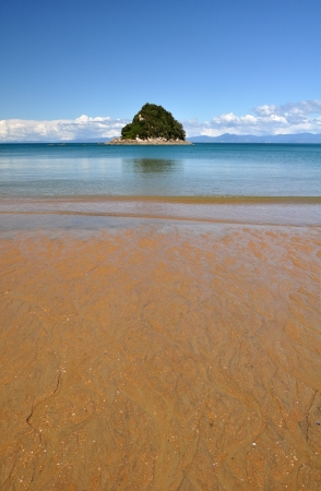 The golden sands and pristine waters of New Zealand photo