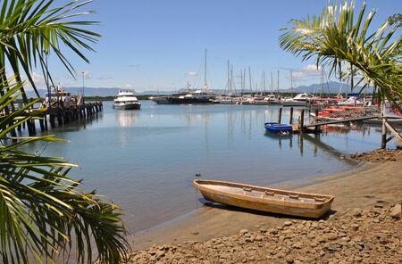 fiji: Denerau Harbour   Marina, Fiji  Includes a fleet of sailing boats moored in the background