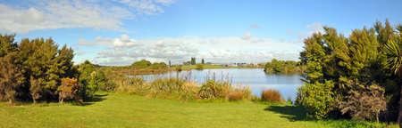 christchurch: Canterbury Show Car Park Panorama, Christchurch, New Zealand Stock Photo