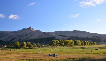 christchurch: Autumn in the Heathcote Valley at sunset, Christchurch, New Zealand