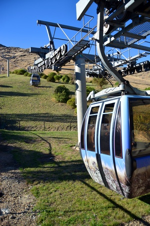 christchurch: Christchurch Gondola viewed from the bottom of the Port Hills. Canterbury, New Zealand.