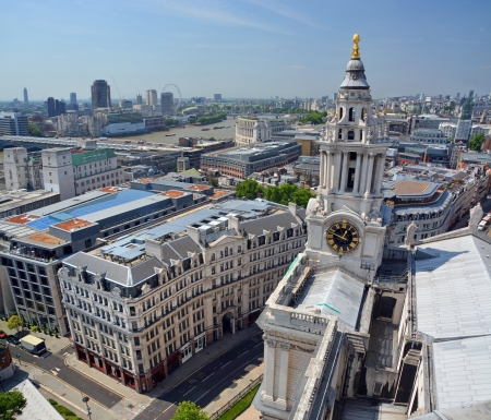 st  paul   s cathedral: St Paul s Cathedral   London City Panorama Stock Photo