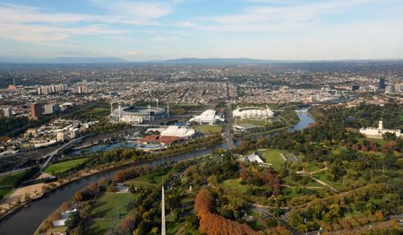 cenital: Vista a�rea de Melbourne