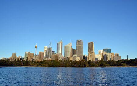 Sydney, Australia - July 17, 2014: Sydney City Skyline from Macquaries point, Australia