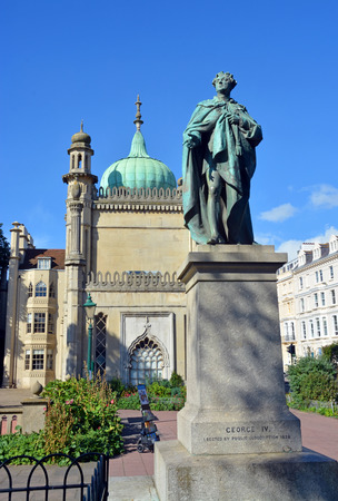 Statue of George IV. He commissioned John Nash to build the Royal Pavilion in Brighton and remodel Buckingham Palace, and Sir Jeffry Wyattville to rebuild Windsor Castle.
