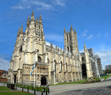 canterbury: Canterbury Cathedral in England - the World headquarters of the Anglican Church.