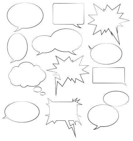 A variety of speech bubbles