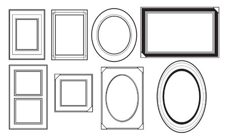 Variety of picture frames Çizim