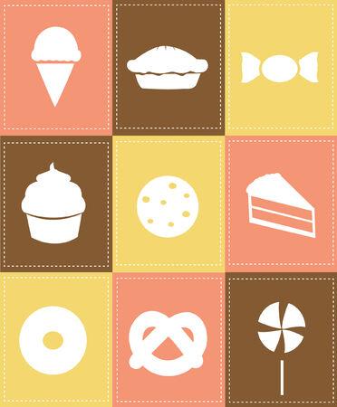 Pastry icons Иллюстрация