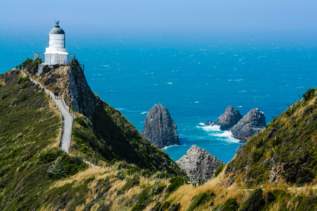 Nugget point lighthouse photo