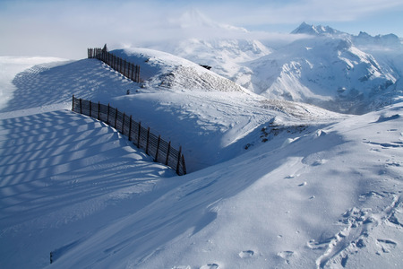 Avalanche barriers in Tignes, France photo