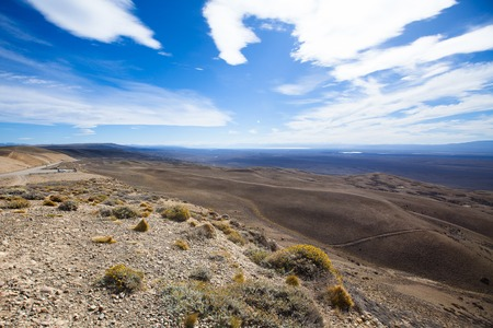 The lookout on the desert landscape, Argentina Stock Photo