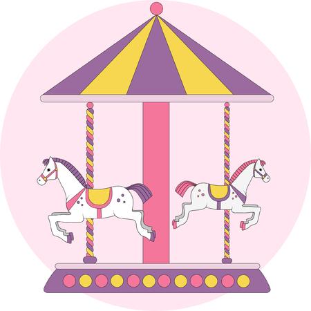 lodging: childrens carousel horses