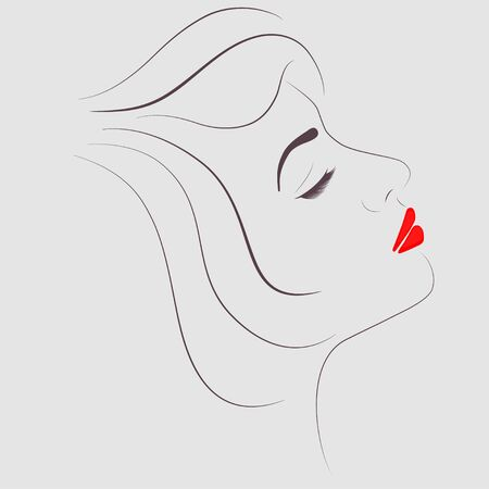 eyes closed: beautiful woman with eyes closed